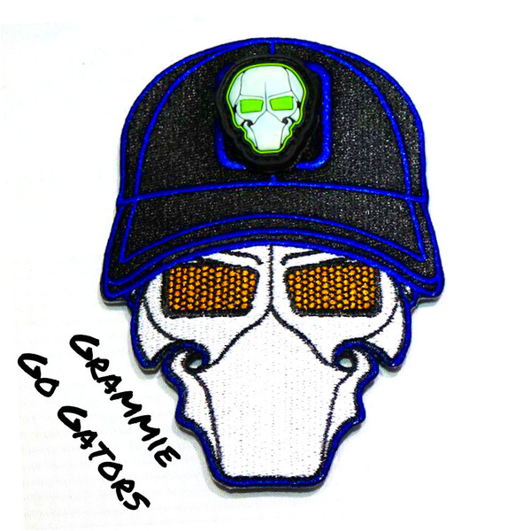 Grammie Go Gators Ball Cap Logo Patch with GFT Ranger Eye Patch