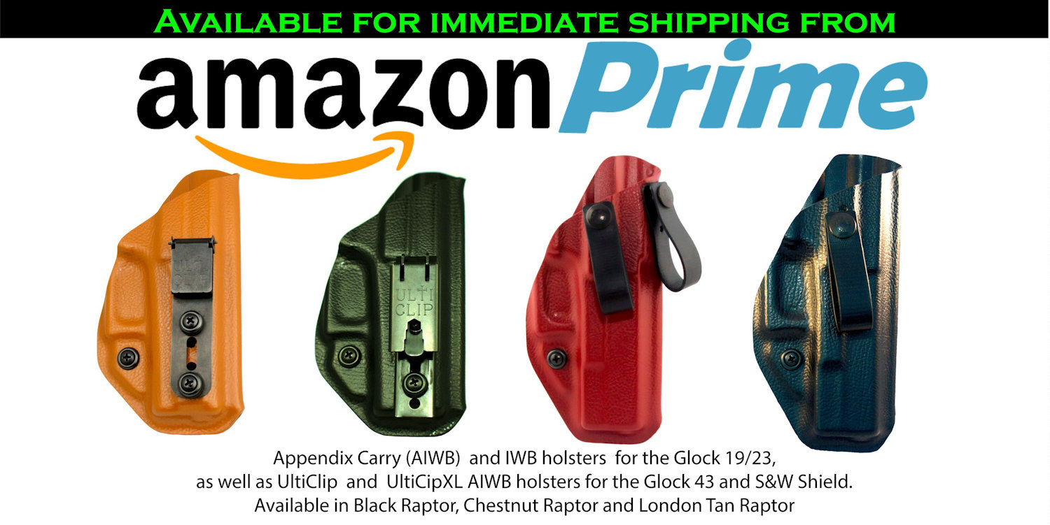 Our Kydex Holsters on Amazon