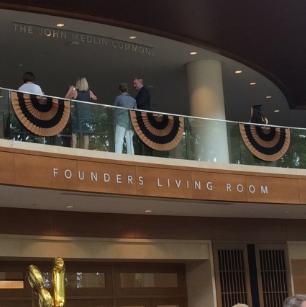 Custom pleated fans on a balcony
