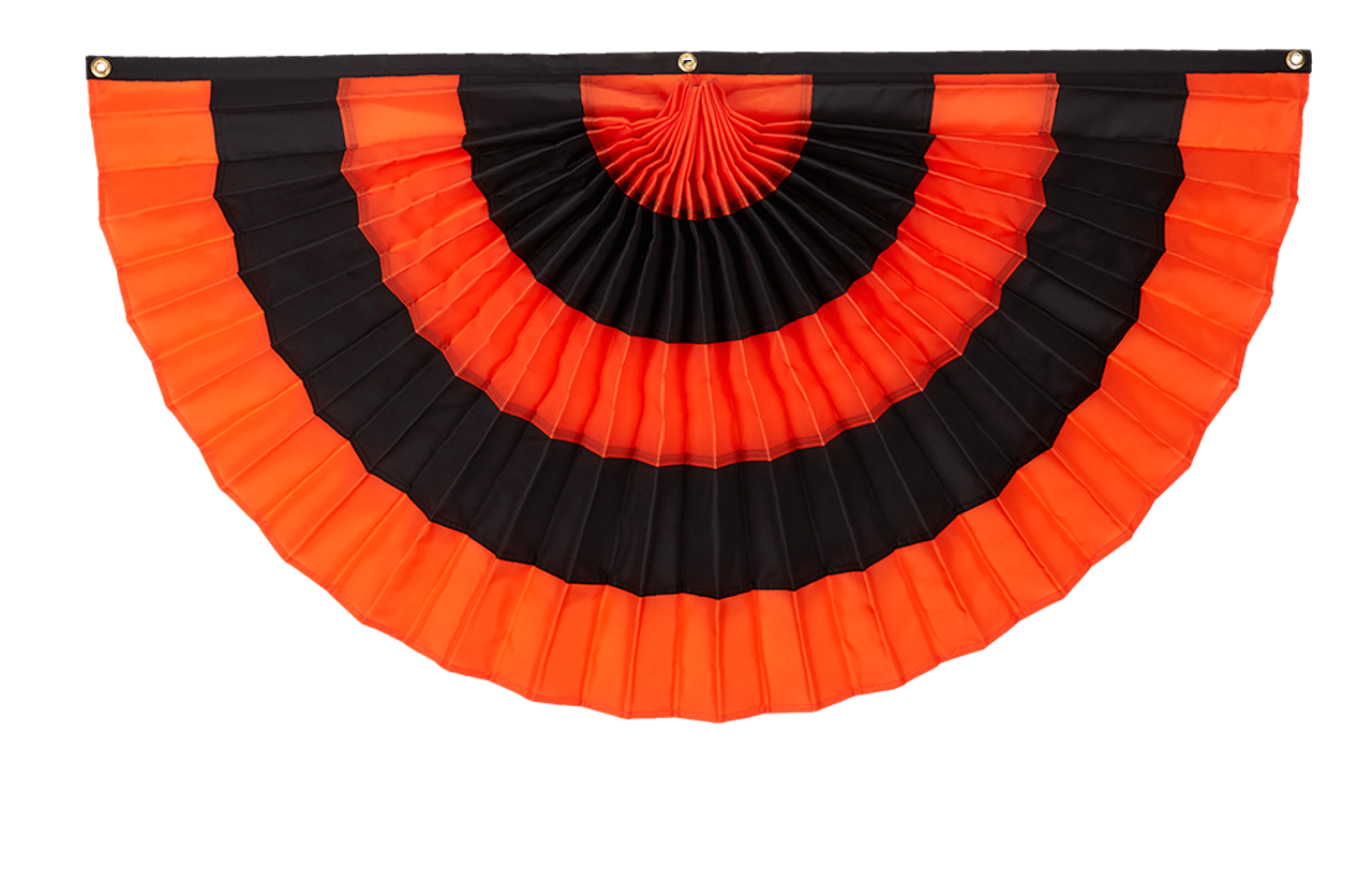 Orange/Black/Orange/Black/Orange Flag Bunting
