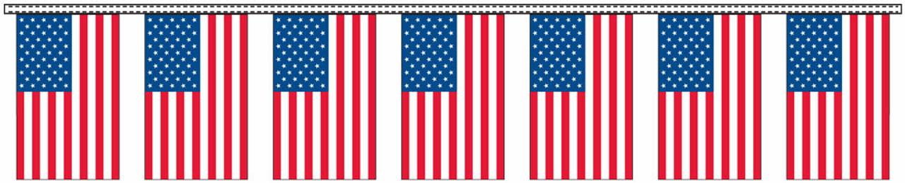 US Flag Pennant Streamers