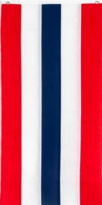 "USA Nylon Pull Down Banner - Red/White/Blue/White/Red - 18"" x 12'"