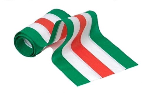 "Irish Cotton Bunting - Green/White/Orange/White/Green - 18"" Width"