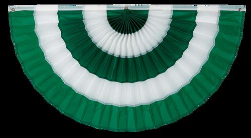 "Irish Cotton Flag Bunting - Green/White/Green/White/Green - 18"" x 36"""