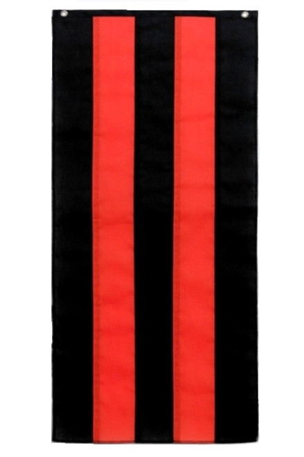 "Halloween Nylon Pull Down - Black/Orange/Black/Orange/Black - 18"" x 12'"