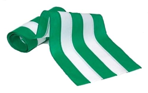 "Irish Cotton Bunting - Green/White/Green/White/Green 18"" Width"