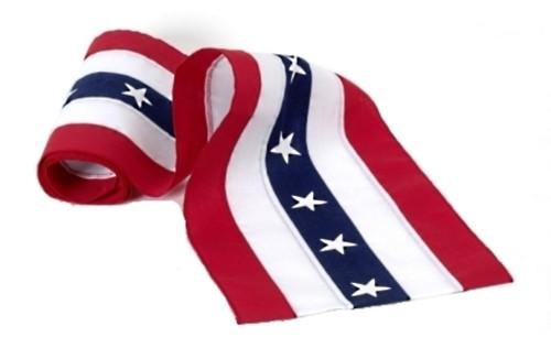 "USA Nylon Bunting  - Red/White/Stars/White/Red - 18"" Width"