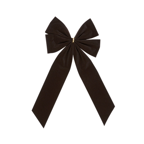 Mourning Funeral Bow - Black Bow & Tail - 4 Loop - Regular Size