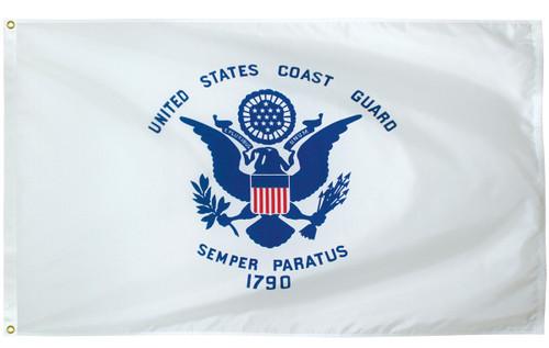 U.S. Coast Guard Flags - Nylon - 1' x 1 1/2'