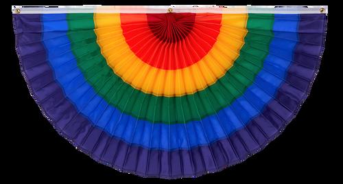 """LGBTQ Nylon Flag Bunting - Rainbow - 24"""" x 48"""""""