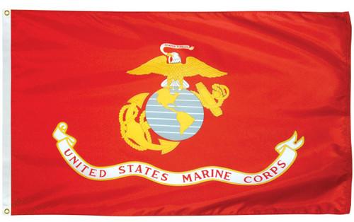 U.S. Marine Corps Flags - Nylon - 1' x 1 1/2'