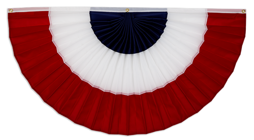 """USA Cotton Flag Bunting - Red/White/Blue - 12"""" x 24"""""""