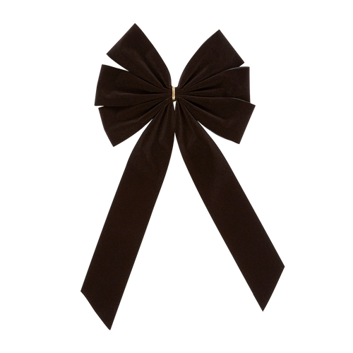 Mourning Funeral Bow - Black Bow & Tail - 6 Loop - Regular Size