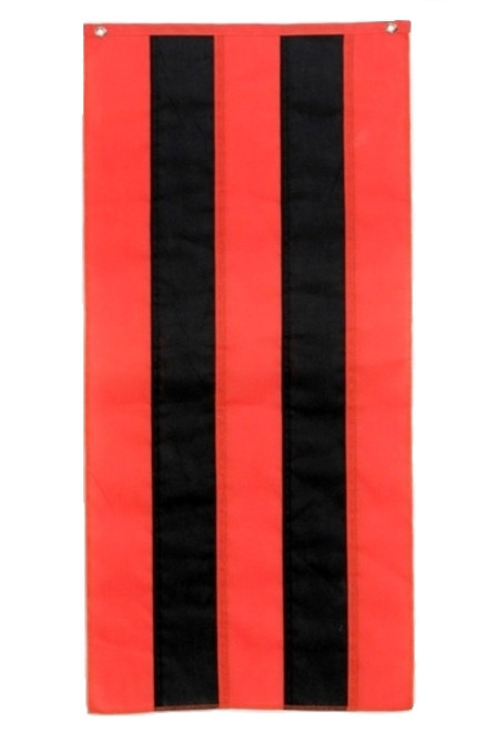 "Halloween Nylon Pull Down - Orange/Black/Orange/Black/Orange - 18"" x 12'"