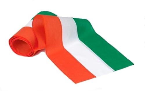 """Irish Nylon Bunting - Green/White/Orange - 18"""" Width"""