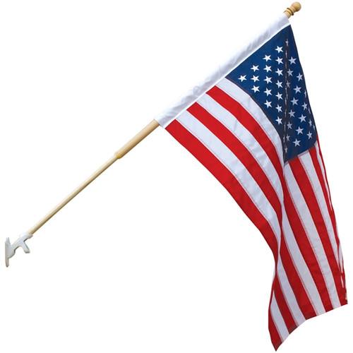 U.S. Outdoor Banner Flag - Nylon - 2 1/2' x 4'