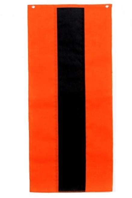 "Halloween Nylon Pull Down Banner - Orange/Black/Orange - 18"" x 8'"