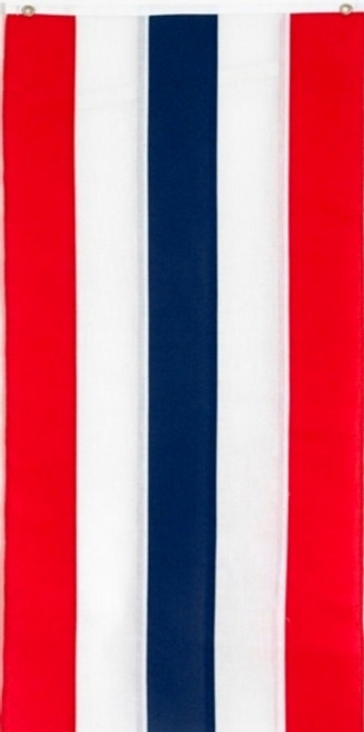 """USA Cotton Pull Down Banner - Red/White/Blue/White/Red - 18"""" x 12'"""