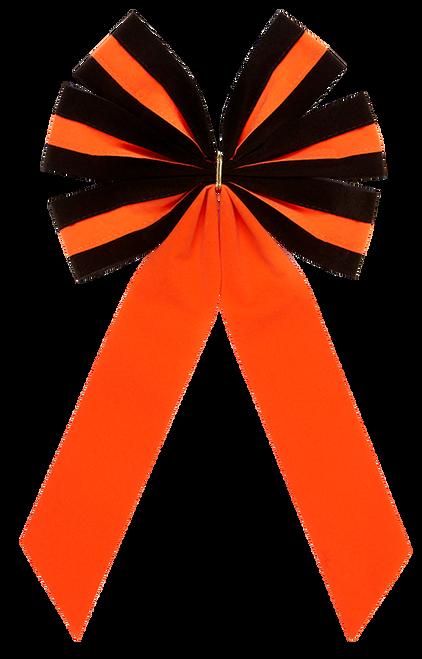 Halloween Bows - Black/Orange/Black Bow & Orange Tail - 6 Loop