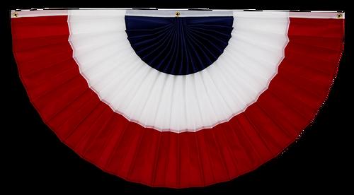 "USA Nylon Flag Bunting - Red/White/Blue - 18"" x 36"""