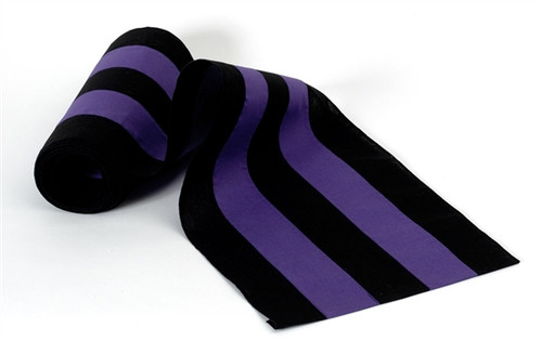 "Nylon Bunting - Black/Purple/Black/Purple/Black 18"" Width"