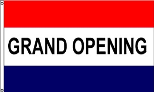 Patriotic Message Flags - Grand Opening - Nylon - 3' x 5'