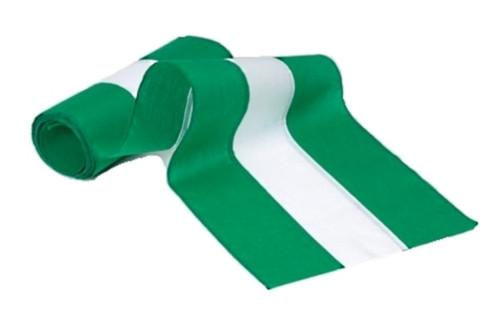 "Irish Cotton Bunting - Green/White/Green - 18"" Width"