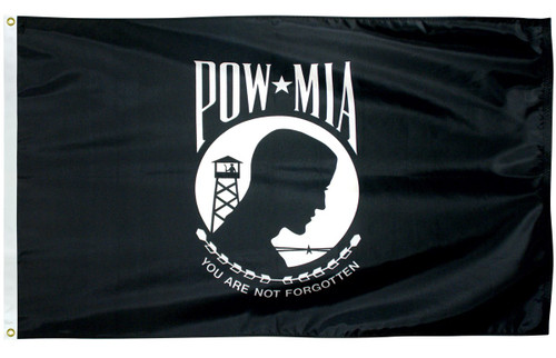 U.S. POW-MIA Flag - Single Face - Nylon - 5' x 8'