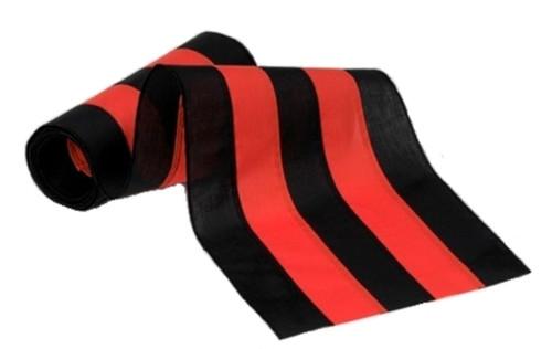 "Halloween Cotton Bunting - Black/Orange/Black/Orange/Black - 18"" Width"