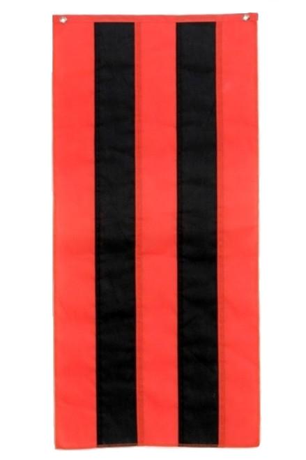 "Halloween Cotton Pull Down - Orange/Black/Orange/Black/Orange - 18"" x 12'"