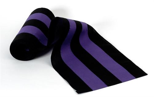 "Cotton Bunting - Black/Purple/Black/Purple/Black 18"" Width"