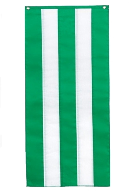 "Irish Nylon Pull Down Banner - Green/White/Green/White/Green  18"" x 8'"
