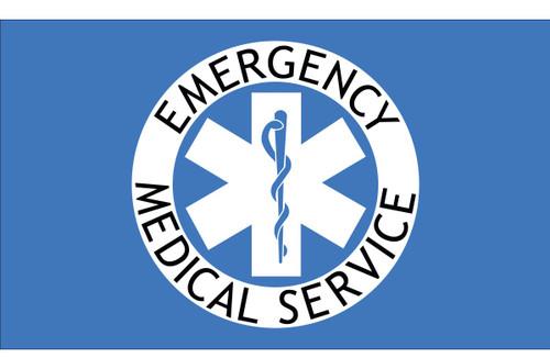 Civilian Service Flags - EMS - Nylon - 3' x 5'
