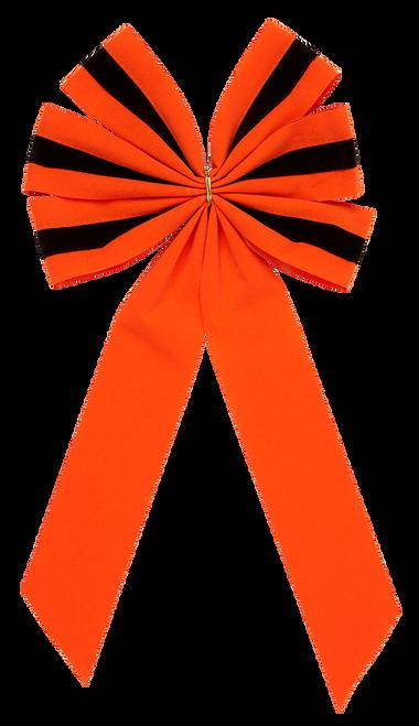 Halloween Bows - Orange/Black/Orange Bow & Orange Tail - 6 Loop