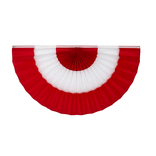 """Canada Nylon Flag Bunting - Red/White/Red - 24"""" x 48"""""""