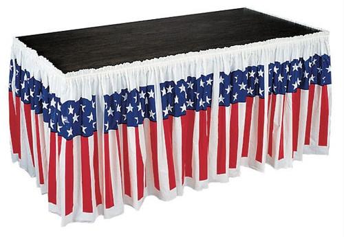 American Tableskirt - Stars & Stripes