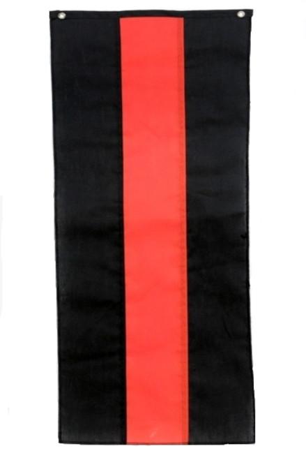 "Halloween Nylon Pull Down Banner - Black/Orange/Black - 18"" x 12'"