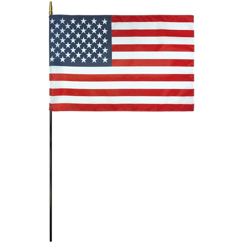 "U.S. Silky Stick Flag - 4"" x 6"" - Sold by the Dozen"