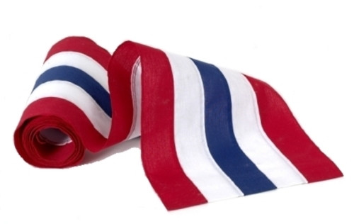 """USA Nylon Bunting  - Red/White/Blue/White/Red - 18"""" Width"""