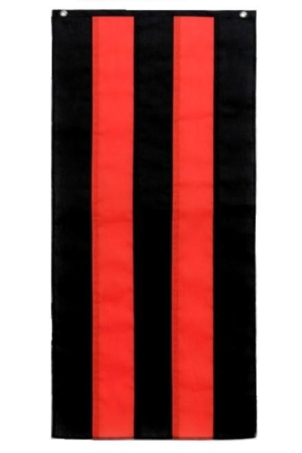 "Halloween Nylon Pull Down - Black/Orange/Black/Orange/Black - 18"" x 8'"