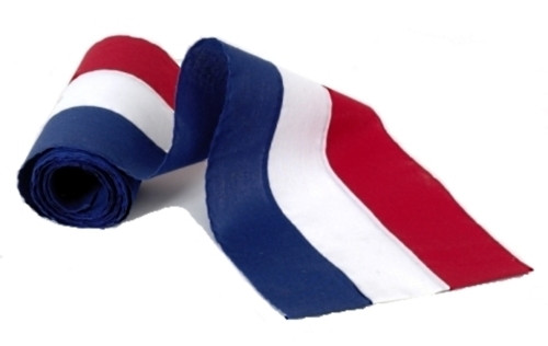 """USA Cotton Bunting - Red/White/Blue- 18"""" Width"""