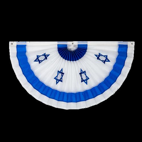 "Israel Nylon Flag Bunting - Blue/White - 24"" x 48"""