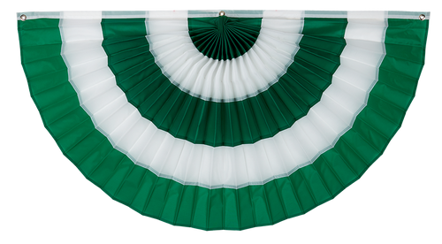 "Irish Nylon Flag Bunting - Green/White/Green/White/Green - 36"" x 72"""