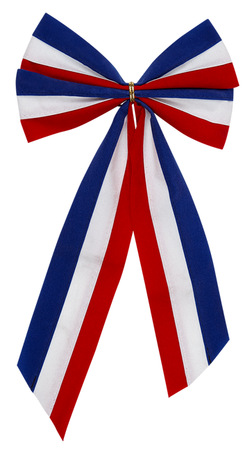 Patriotic Bow-Red/White/Blue Bow & Red/White/Blue Tail - 4 Loop - Large Size