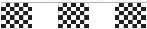 Black and White Checkered Flag Streamers