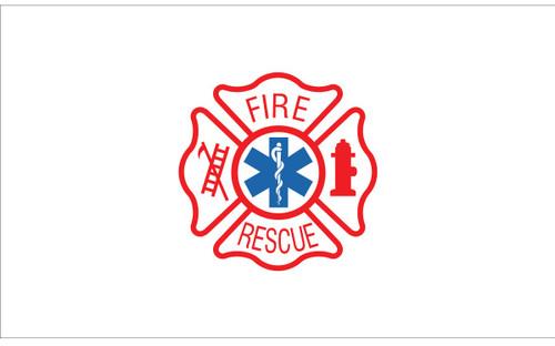 Civilian Service Flags - Fire Rescue - Nylon - 3' x 5'