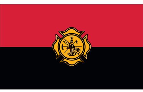 Civilian Service Flags - Fireman Remembrance - Nylon - 3' x 5'