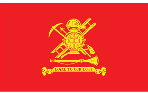 Civilian Service Flags - Fireman - Nylon - 3' x 5'