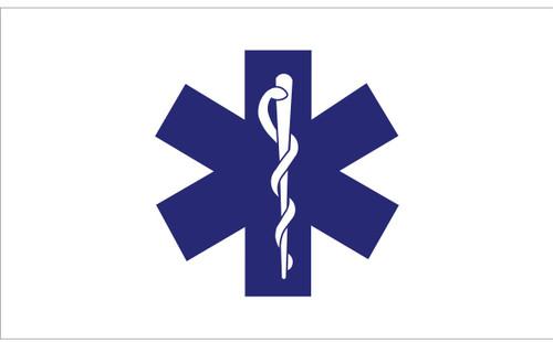 Civilian Service Flags - Star of Life - Nylon - 3' x 5'