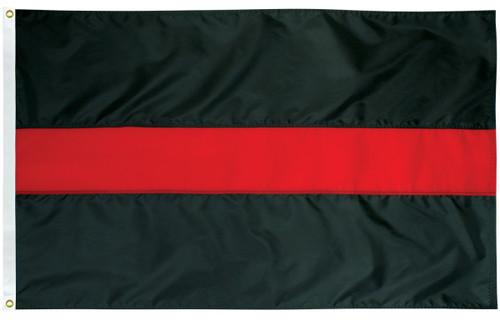 Civilian Service Flags - Thin Red Line - Nylon - 3' x 5'